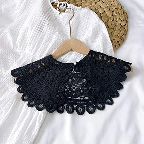 2021 25 Estilos Collares falsos Mant¨®n O-cuello Mu?eca Camisa de cuello falso Mujeres Hueco de encaje de ganchillo Cuello desmontable Media camisa Faux Col-01, Polonia