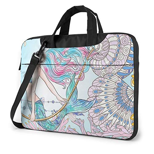 Underwater World Mermaid Print Laptop Sleeve Compatible with 13-15.6 Inch, Notebook Computer Briefcase Bag