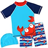 Baby Little Boys 2-10T Summer Swimwear Two Piece Rash Guard Bathing Suits Sun Protection Swimsuits Beachwear...