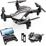 DEERC D20 Mini Drone for Kids with 720P HD FPV Camera, Foldable RC Quarcopter for Boys Girls with Altitude Hold, Headless Mode, One Key Start, Tap Fly, Speed Adjustment, 3D Flips, 2 Modular Batteries