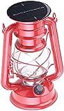 Lampe-tempête solaire décorative à LED 40 lm / 1,5 W / 23 cm [Lunartec]