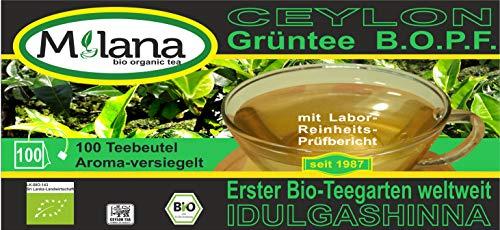 100 Milana CEYLON Premium BIO-GRÜNTEE Beutel BOPF - Teebeutel, grüner Tee, 55 Prozent des Verkaufspreises ist SOZIALE HILFSLEISTUNG - Der Tee, ... der nach Liebe schmeckt...