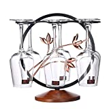 Creative Freestanding Countertop Wine Glass Holder With 6 Hooks, Metal Tabletop Stemware Storage Rack Display Black For Home Bar-a 15x28.5cm(6x11inch)