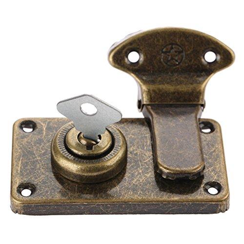 Vintage meubelbeslag Antieke doosvergrendelingen Decoratieve kluwen Sieraden Houten kist Koffer Kluwen Klink met sleutel en schroef
