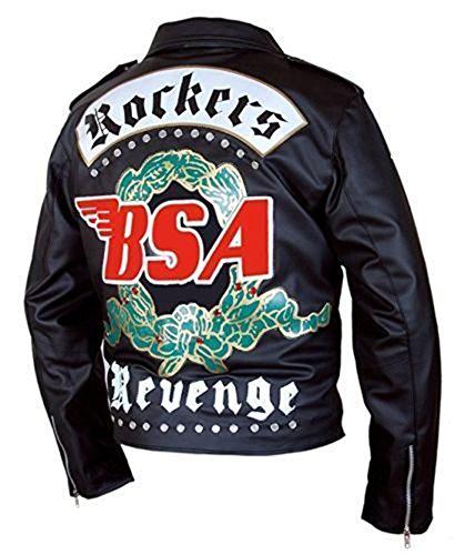 SuperSkySeller George Michael BSA Faith Rockers Revenge - Chaqueta de piel