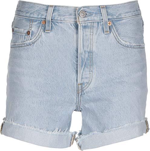 Levi's 501 Rolled Short Pantalones Cortos, Luxor Erosion, 25 para Mujer