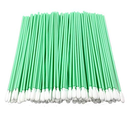 100pcs Multi-Purpose 3 Double Ended Cleanroom Lint Free Cleaning Swabs with Small Circular Foam Tips Cleaning for Tiny Tight Space of Precision Component