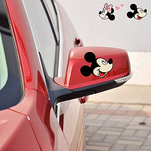 Pqzqmq Minnie Mouse Stickers Minnie Mouse Decals Car Styling Cute Cartoon Mickey Minnie Mouse Accessories Car Rearview Mirror Sticker and Decal Car Stickers(4.6' x 3.2')