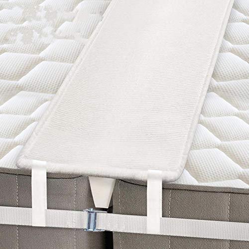 Soporte para colchones de alta calidad, puente para colchones, cinturón antideslizante, ajustable, cuña para cama doble, kit de conversión para camas de hasta 200 cm x 200 cm, Correa de fijación de 20 cm., Metallschnalle