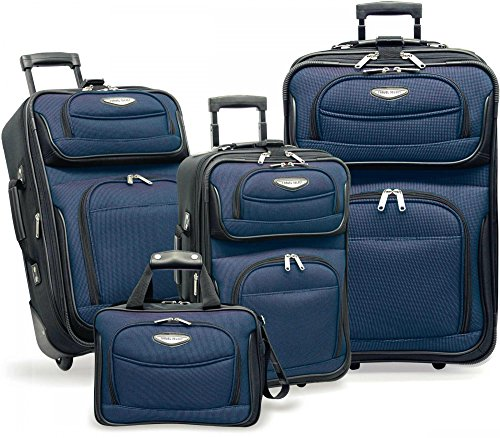 Travelers Choice Travel Select Amsterdam 4-Piece Softshell Deluxe Expandable Rolling Luggage Set