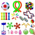 32 Pack Sensory Fidget Toys Set?Stress Relief Hand Toys for Adults Kids ADHD ADD Anxiety Autism, Perfect for Birthday Party Favors, School Classroom Rewards, Carnival Prizes, Pinata Goodie Bag Fillers from ChicFunhood