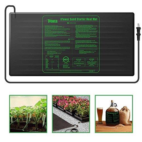 "iPower Durable Waterproof Seedling Heat Mat 48"" x 20"" Warm Hydroponic Heating Pad"