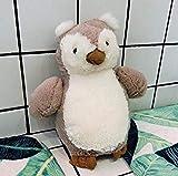 QIXIDAN Eule Plüschtier 18Cm Geburtstagsgeschenk Für Kinder Geschenk Geeignet Für Baby Handkissen Spielzeugkissen Kissen Kissen