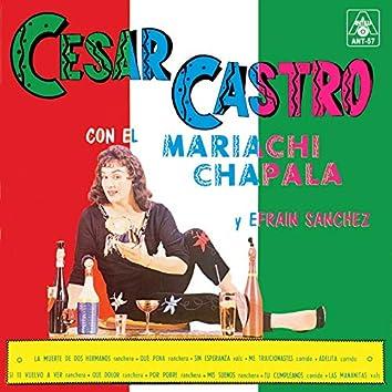 Cesar Castro Con El Mariachi Chapala Y Efrain Sanchez