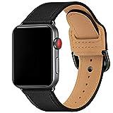 SUNFWR Armband Kompatibel mit Apple Watch 38mm 40mm 42mm 44mm,Dünn und leicht Lederband...