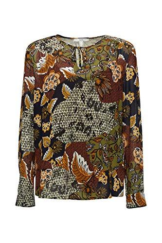 ESPRIT Damen 070EE1F318 Bluse, 363/OLIVE 4, 38