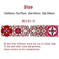 赤い要素ストリップセラミックタイルの壁のステッカーキッチンガラスウエストラインの壁紙の家の装飾防水ビニールDIYアートウォールデカール (Color : MZ131 E, Size : 30cmX150cmX1pc)