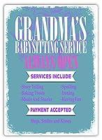 おばあちゃんのベビーシッター 金属板ブリキ看板警告サイン注意サイン表示パネル情報サイン金属安全サイン