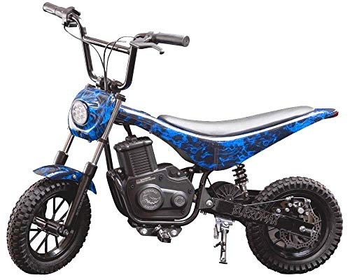 Burromax Blue Flames TT350R Electric Motorcycle Dirt Bike