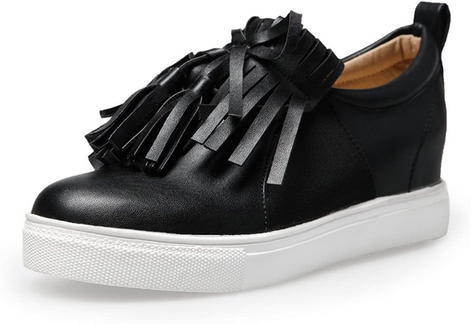 BalaMasa Girls Slip-On Low-Heels Solid Polyester Pumps-shoes