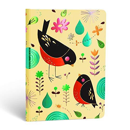Paperblanks Notizbuch mit Lesebändchen & Innentasche | Mutter Rotkehlchen | Midi (170 x 120 mm) | 176 Seiten | Liniert