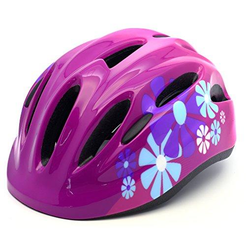 M Merkapa Kids Bike Helmet Adjustable Bicycle Helmets for Toddler and Youth (Hot Pink, M)