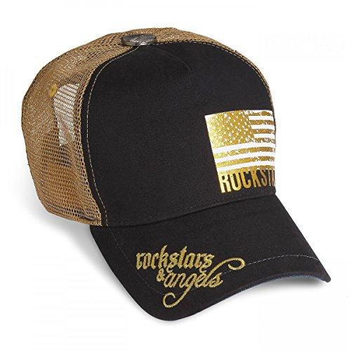 Rockstars & Angels - Gorra de béisbol - para hombre Negro negro talla única