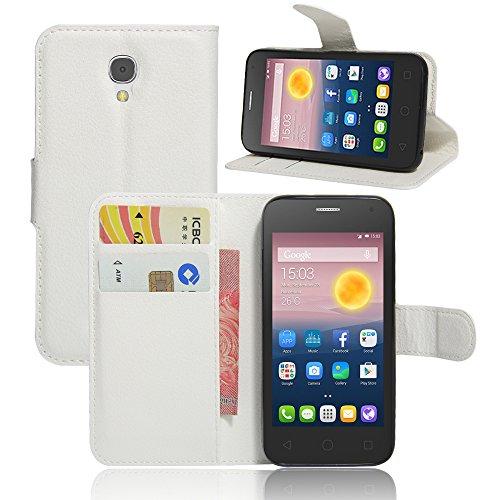 Litao-Hülle CN Hülle für ALCATEL ONE Touch PIXI First 4024X hülle Flip Leder + TPU Silikon Fixierh Schutzhülle Hülle 6