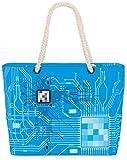 VOID XXL Sac de Plage Ordinateur CPU Shopper Beach Bag 60x38x16cm 36L Shopping Processeur, Kissen Farbe:Blei Clair