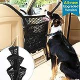 VavoPaw Rete Auto Separatore Barriera per Cani, Rete di Sicurezza Universale 5 Strati di Rete per Sedile Posteriore con Organizer, Rete Divisorio per Sicurezza Portabile Regolabile - Nero