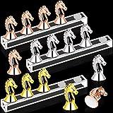 Kalolary 3 Sets Soporte de exhibición de práctica de soporte de uñas de acrílico, Herramienta de práctica de habilidades de uñas falsas, uso de salón de uñas/familia (oro, plata, oro rosa)