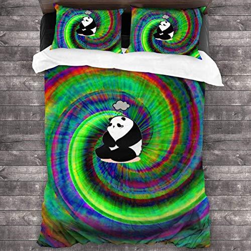 shenguang - Juego de Ropa de Cama de 3 Piezas con Efecto teñido Anudado Colorido, edredón para Todas Las Estaciones con 2 Fundas de Almohada, Colcha Suave con Cremallera, sin edredón 86 'x 70'