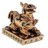 sharprepublic La Estatuilla Pi Xiu Feng Shui para Atraer La Riqueza De La Decoración del Hogar - Bronce