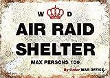 GNKJYY-T World War Poster GB WW2 WW1 Army Bunker Air Shelter Vintage Retro Man Cave Bar Pub Shed Novelty Gift Aluminium Metal Estaño Wall Décor Señal