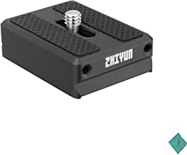 Zhiyun Transmount 1.5cm Camera Backing Base Quick Release Camera Mount Adapter Weebill Lab/Crane 2 /Crane V2 /Crane Plus/Crane-M Gimbal Stabilizer Accessory with Andoer Cleaning Cloth
