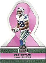 DEZ BRYANT SPECIAL DIE CUT INSERT COLLECTIBLE TRADING CARD FOR BREAST CANCER AWARENESS - 2015 PANINI CROWN ROYALE FOOTBALL CARD #PR2 (DALLAS COWBOYS) FREE SHIPPING