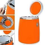 Syntrox Germany 3 Kg WM-380W Waschmaschine mit Schleuder Campingwaschmaschine Mini Waschmaschine (Orange) - 2