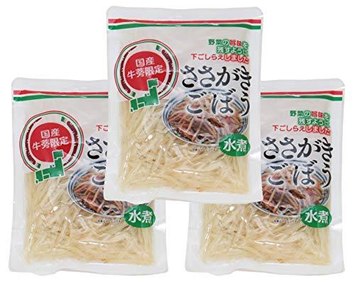 アスカフーヅ 国産牛蒡限定 ささがきごぼう 100g×3袋