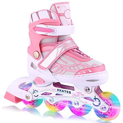 OUTCAMER Inline Skates with Light Up Wheels Adjustable Roller Skates...