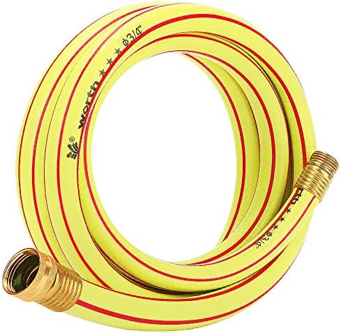 Solution4Patio Homes Garden 10 ft Short Hose 3 4 inch Yellow Lead Hose Male Female Commercial product image