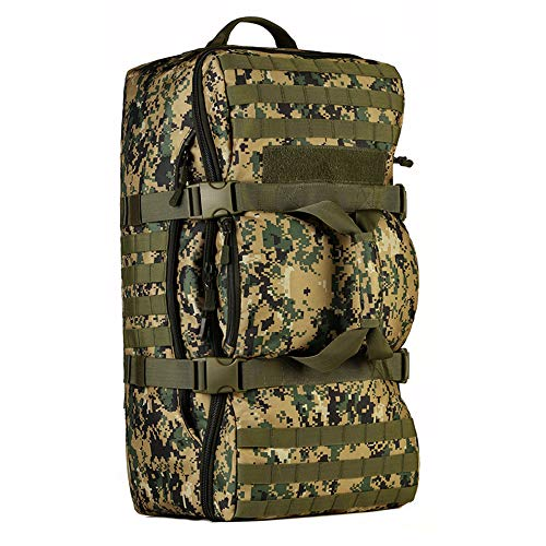 60L Backpack Military Waterproof Outdoor Tactical MOLLE Suitcase Mountain Sports Luggage Multifunctional Travel Bag (Jungle)
