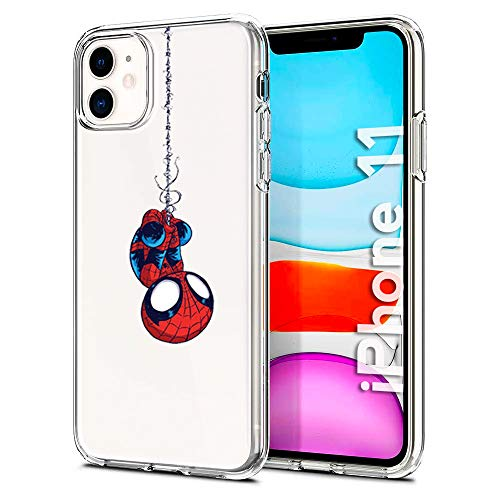 Litech Spider Man Case [Flexfit] Protective Clear Cartoon Comic Super Hero Case for Apple iPhone 11 (2019)