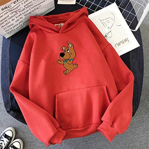 N-N Hoodies Cute Dog Print Sweatshirt for Women Top Clothes Hoody Female Itself Winter Women's Full Sleeve...