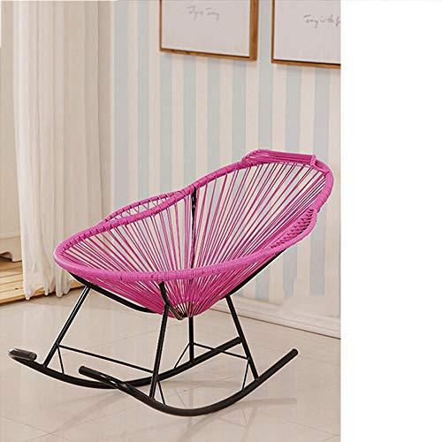 Silla mecedora de color, moderna y sencilla Lazy Lounge Chair, Balcony Baby Silla de mimbre mecedora...