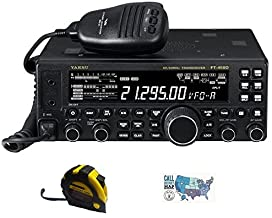 Bundle - 3 Items - Includes Yaesu FT-450D Base Station Radio 100W HF/6M with The New Radiowavz Antenna Tape (2m - 30m) and...