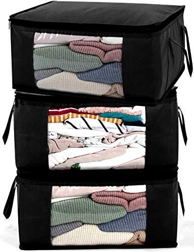 ABO Gear Storage Bags G01B, Dark Black, 3 Count