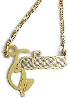 New Women's 14 Karat Gold Filled TAKEN Fancy Pendant Necklace 18