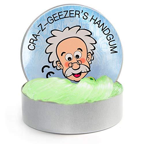 Crystal Series - Masilla de pensamiento de limo, masilla mágica para aliviar el estrés, juguete sin bórax y no tóxico perfumado para niños y adultos (1 paquete de 90 g) (cristal verde)