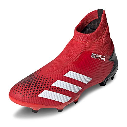 adidas Herren Predator 20.3 Ll Fg Fußballschuhe, Grau (Active Red/FTWR White/Core Black), 45 1/3 EU