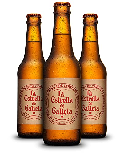 La Estrella de Galicia Cerveza - Pack de 24 botellas x 330 ml - Total: 7.92L